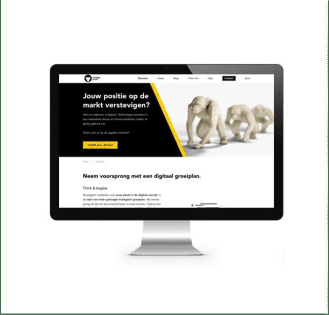 De MonkeyProof website als voorbeeld van sterk UX en UI design